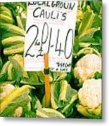 Cauliflower Metal Print by Tom Gowanlock
