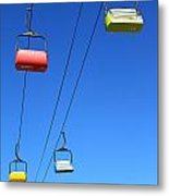 Chairlift Cars Metal Print
