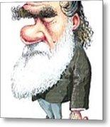 Charles Darwin, Caricature Metal Print by Gary Brown