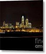 Charlotte Skyline At Night Metal Print by Patrick Schneider