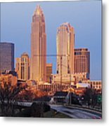 Charlotte Skyline At Sunrise Metal Print