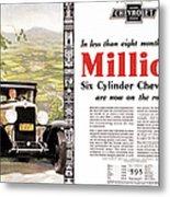 Chevrolet Ad, 1929 Metal Print
