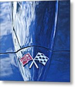 Chevrolet Corvette Hood Emblem Metal Print