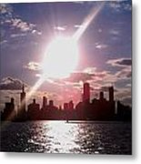 Chicago Sunset Metal Print