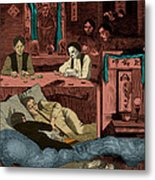 Chinatown Opium Den Metal Print