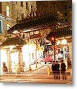 Chinese Gate Metal Print
