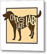 Chocolate Lab Metal Print by Geoff Strehlow