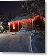 Christmas House  Metal Print by Roman Rodionov
