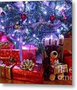 Christmas Tree And Presents Metal Print