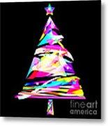 Christmas Tree Design Metal Print