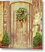 Christmas Wreath Metal Print by Tom Gowanlock