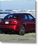 Chrysler At Beach Metal Print