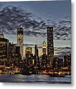 City At Night Metal Print