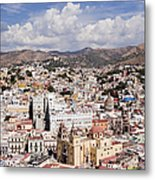 City Of Guanajuato From The Pipila Overlook At Dusk Metal Print