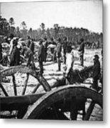 Civil War: Union Artillery Metal Print