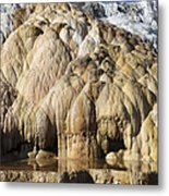 Cleopatra Terrace, Mammoth Hot Springs Metal Print