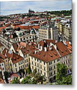 Clock Tower View - Prague Metal Print