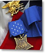 Close-up Of The Medal Of Honor Award Metal Print