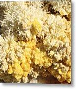 Close-up Of Yellow Salt Crystals Metal Print