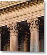 Closeup Of The U.s. Supreme Court Metal Print