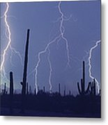 Cloud To Ground Lightning Metal Print