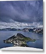 Clouds Over Crater Lake Metal Print