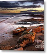 Coastline At Twilight Metal Print