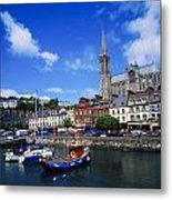 Cobh Cathedral & Harbour, Co Cork Metal Print