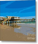 Cocoa Beach Pier Florida Metal Print