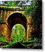 Colonial Era Bridge Metal Print