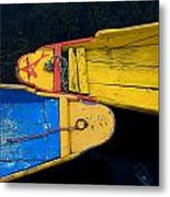 Colorful Boats, Srinagar, Dal Lake Metal Print