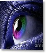 Colorful Eye Metal Print