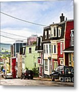 Colorful Houses In Newfoundland Metal Print