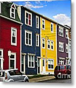 Colorful Houses In St. John's Newfoundland Metal Print by Elena Elisseeva