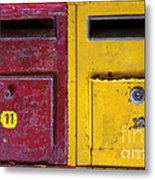 Colorful Mailboxes Metal Print