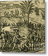 Columbus Arrested Metal Print