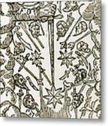 Comet, 1665 Metal Print
