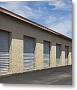Commercial Storage Facility Metal Print by Paul Edmondson