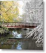 Composite Of Fall And Winter Metal Print