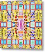 Computer Artwork Representing A Circuit Board Metal Print