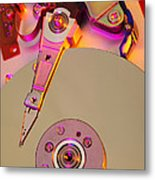 Computer Hard Disc Metal Print by Mark Sykes