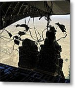 Container Delivery System Bundles Exit Metal Print