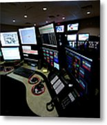 Control Room Center For Emergency Metal Print
