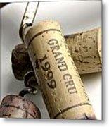 Corks Of French Wine Metal Print by Bernard Jaubert