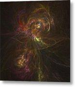 Cosmic Image Of A Colorful Nebula Metal Print