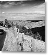 Country Mountain Road Through Glenaan Scenic Route Glenaan County Antrim Northern Ireland  Metal Print