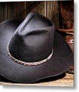 Cowboy Hat Metal Print by Olivier Le Queinec