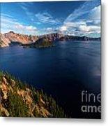 Crater Lake Blues Metal Print