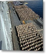 Crew Aboard The Amphibious Assault Ship Metal Print