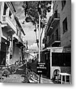 crossing point in ledra street in the UN buffer zone in the green line dividing cyprus Metal Print